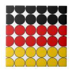 Germany Stylish Girly Chic : Polka Dot German Flag Tile