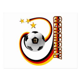 Germany Swirl Soccer 3 stars Postcard