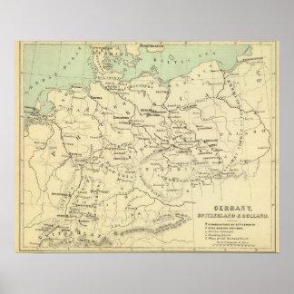 Germany, Switzerland, Holland Poster