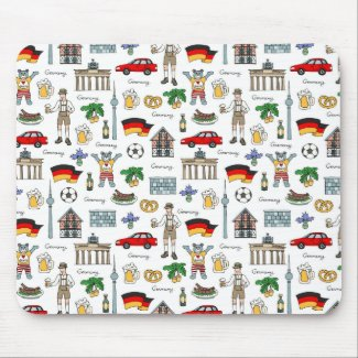 Germany | Symbols Pattern Mouse Pad