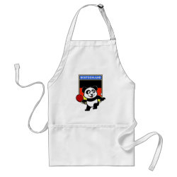 Apron with German Table Tennis Panda design