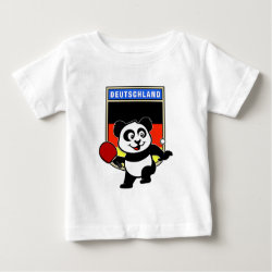 Baby Fine Jersey T-Shirt with German Table Tennis Panda design
