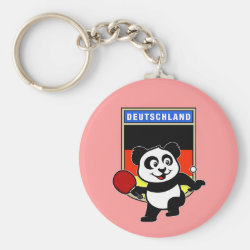 Basic Button Keychain with German Table Tennis Panda design