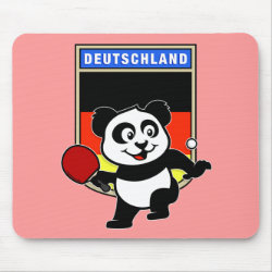 Mousepad with German Table Tennis Panda design
