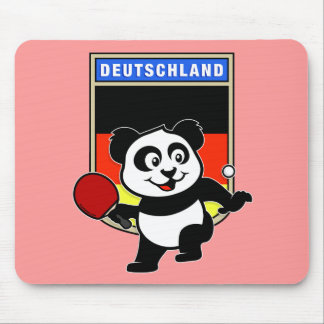 Germany Table Tennis Panda Mouse Pad