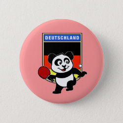 German Table Tennis Panda Round Button