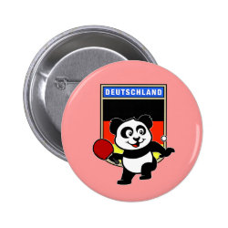 Round Button with German Table Tennis Panda design