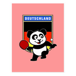 Postcard with German Table Tennis Panda design