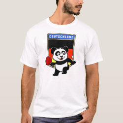 Men's Basic T-Shirt with German Table Tennis Panda design