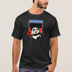 Men's Basic Dark T-Shirt with German Table Tennis Panda design