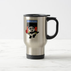 Travel / Commuter Mug with German Table Tennis Panda design