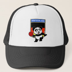 Trucker Hat with German Table Tennis Panda design