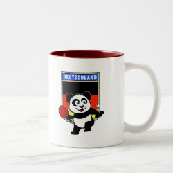 Two-Tone Mug with German Table Tennis Panda design