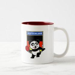 Two-Tone Mug with German Table Tennis Panda design