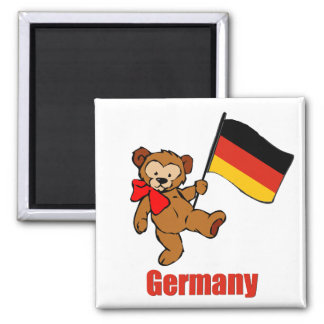 Germany Teddy Bear 2 Inch Square Magnet