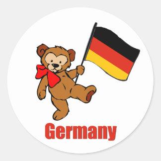 Germany Teddy Bear Sticker
