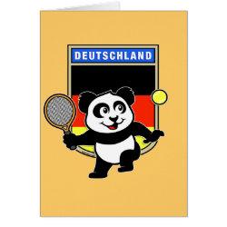 Greeting Card with German Tennis Panda design