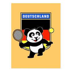 Postcard with German Tennis Panda design