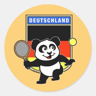 Germany Tennis Panda Stickers