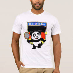 Men's Basic American Apparel T-Shirt with German Tennis Panda design
