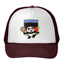Trucker Hat with German Tennis Panda design
