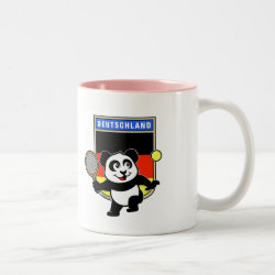 German Tennis Panda Two-Tone Mug