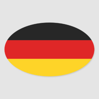 Germany Tricolor Oval Sticker