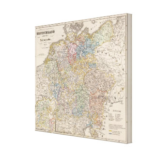 Germany under the Hohenstaufen, and up to 1275 Canvas Print