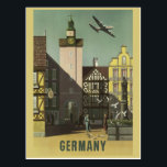 "GERMANY Vintage Travel postcard<br><div class=""desc"">Made of a public domain image of a vintage travel poster. Using the &quot;customize it&quot; function,  you can add your own text if you wish.</div>"