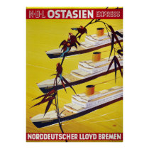 Germany Vintage Travel Poster Restored