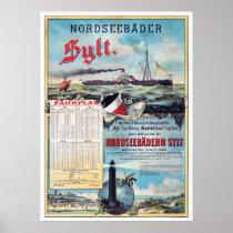 Germany Vintage Travel Poster Restored 1888
