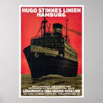 Germany Vintage Travel Poster Restored 1930