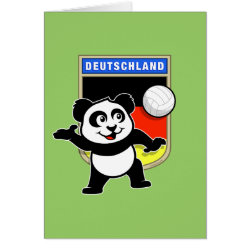 Note Card with German Volleyball Panda design
