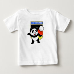 Baby Fine Jersey T-Shirt with German Volleyball Panda design