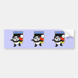 Bumper Sticker with German Volleyball Panda design