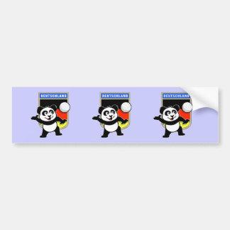 Germany Volleyball Panda Bumper Sticker