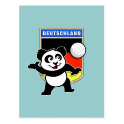 Postcard with German Volleyball Panda design