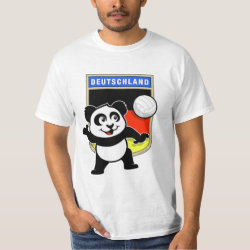Men's Crew Value T-Shirt with German Volleyball Panda design
