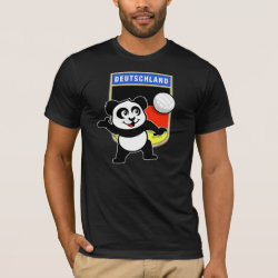 Men's Basic American Apparel T-Shirt with German Volleyball Panda design