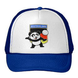 Trucker Hat with German Volleyball Panda design