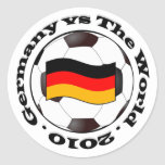 Germany vs The World Classic Round Sticker