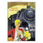Germany Wants to See You Vintage Travel Poster