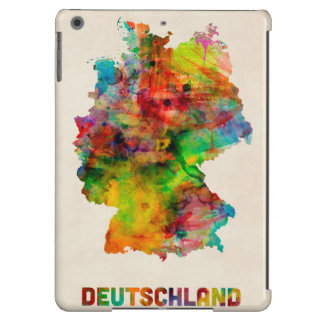 Germany Watercolor Map Deutschland iPad Air Covers