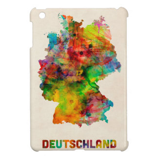 Germany Watercolor Map Deutschland Cover For The iPad Mini