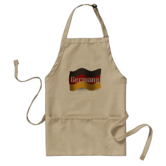 Germany Waving Flag Adult Apron