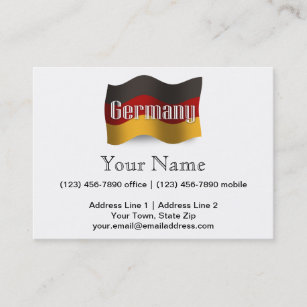 Germany souvenir business cards zazzle germany waving flag business card reheart Images