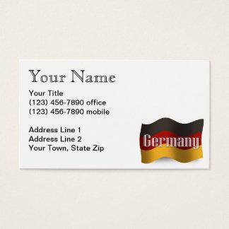 Germany Waving Flag Business Card