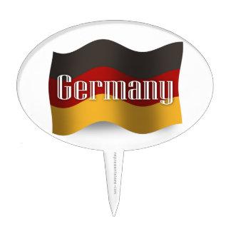 Germany Waving Flag Cake Topper