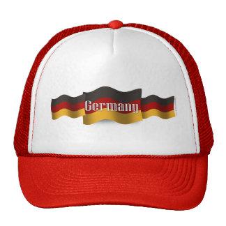 Germany Waving Flag Trucker Hats