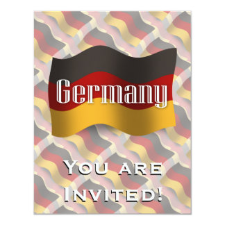 Germany Waving Flag Personalized Invitations